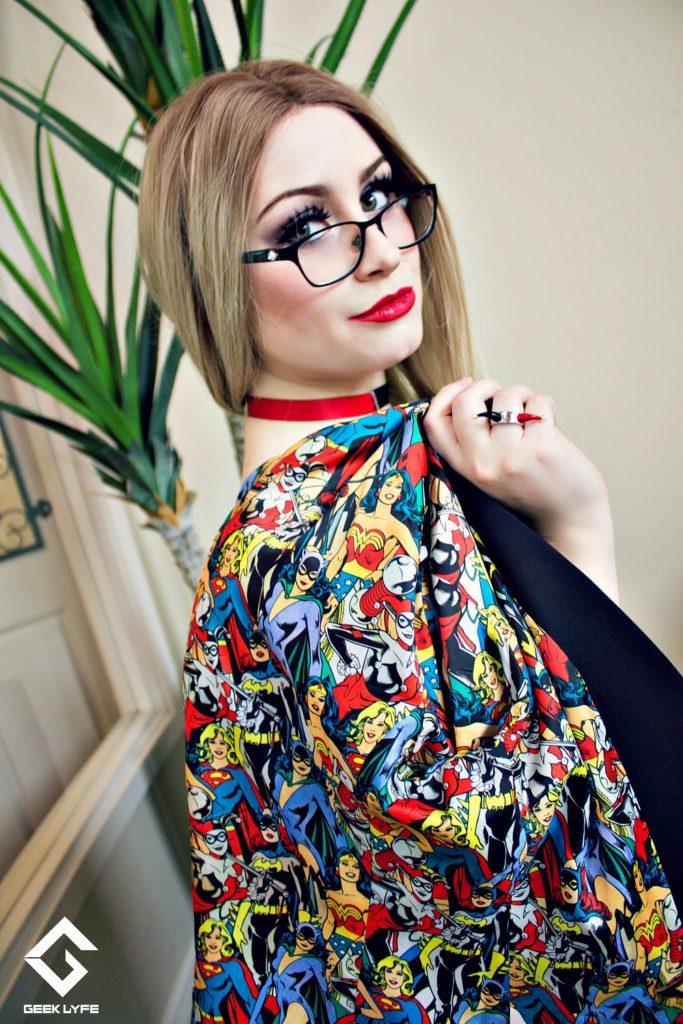 ... still rocking their inner comic book fiend! The sleek black exterior of  the slimming skirt and fitted blazer presents a professional outer  appearance 0e5fae610