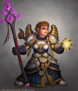 Female Dwarf Priest in Avatar Raiment