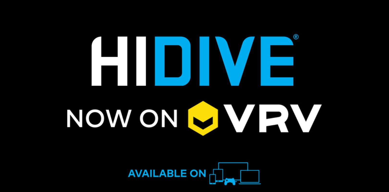 VRV Gets HIDIVE as Newest Channel Partner - The Geek Lyfe