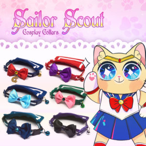 Sailor Moon themed pet collars
