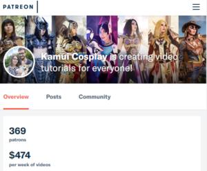 Kamui Cosplay's page